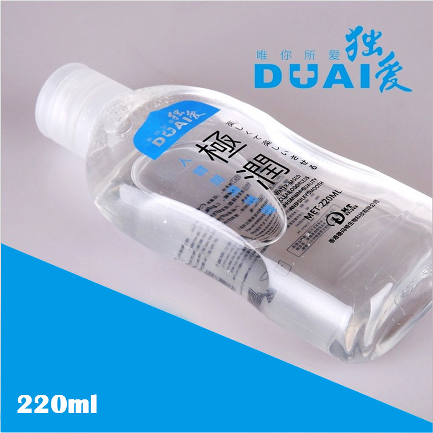 DUAI 220ML Water-soluble Lubrication Personal Lubricant Oil Anal Lubricant Male and Female Lubrication,Adult Condom Sex Products duai 220ml water soluble lubrication personal lubricant oil anal lubricant male and female lubrication adult condom sex products