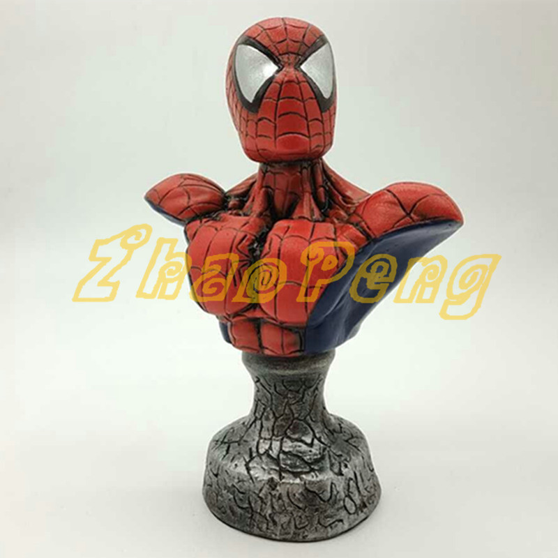 2 style 20CM Amazing Spider-man action figure Spider-man bust resin statue Spider Man model toy Diy and color figure amazing spider man the clone conspiracy