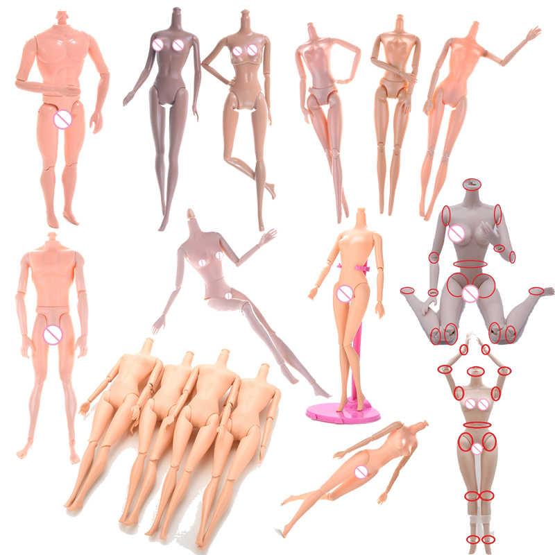 1pc עירום בובת עירום גוף ללא ראש עבור בובות משותף נע עירום גוף DIY אגדות Rotatable מפרקי בובת הטוב ביותר מתנות לילדה