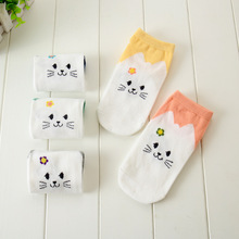 2016 Animals Striped Short Ankle Meias Sox Cartoon Cat Cute Kawaii Sock Art Socks Novelty Funny Sokken For Women