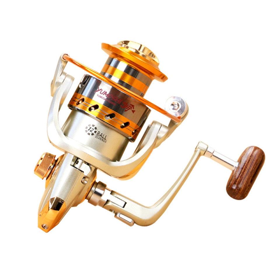 2017 Nuevo ef500-9000 Series aluminio Carretes de pesca 12bb bola Rodamientos tipo carrete anti rodillo de la corrosión del agua de mar Pesca