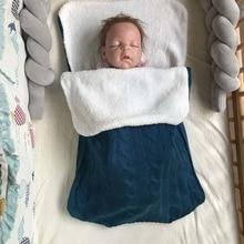 Newborn Baby Sleeping Bag Winter Thick Baby Swaddle Wrap Knit Envelope Warm Swaddling Blanket Infant Stroller Sleep 0-1Y недорого
