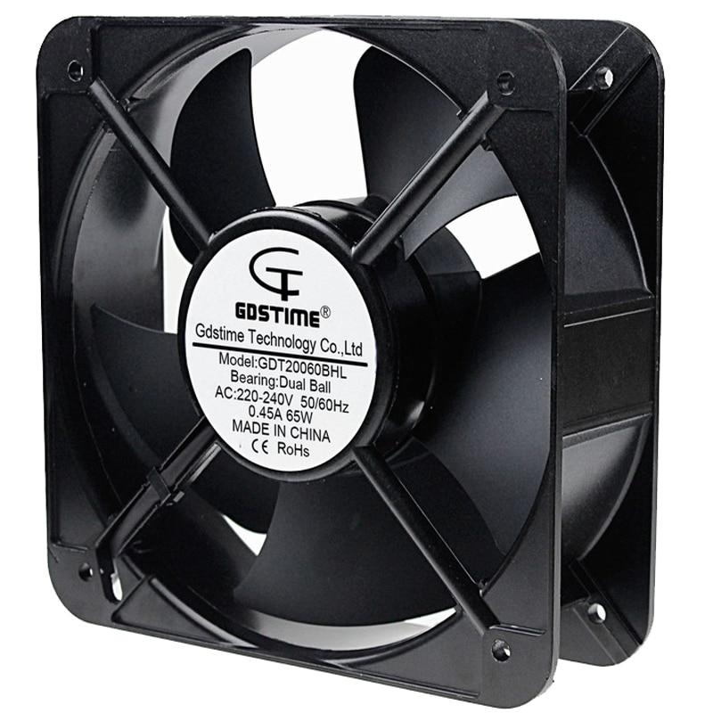 1 PCS Gdstime 20 centímetros 200 milímetros AC 220 V 20060 Caso Duplo Rolamento de Esferas Ventilador de Refrigeração