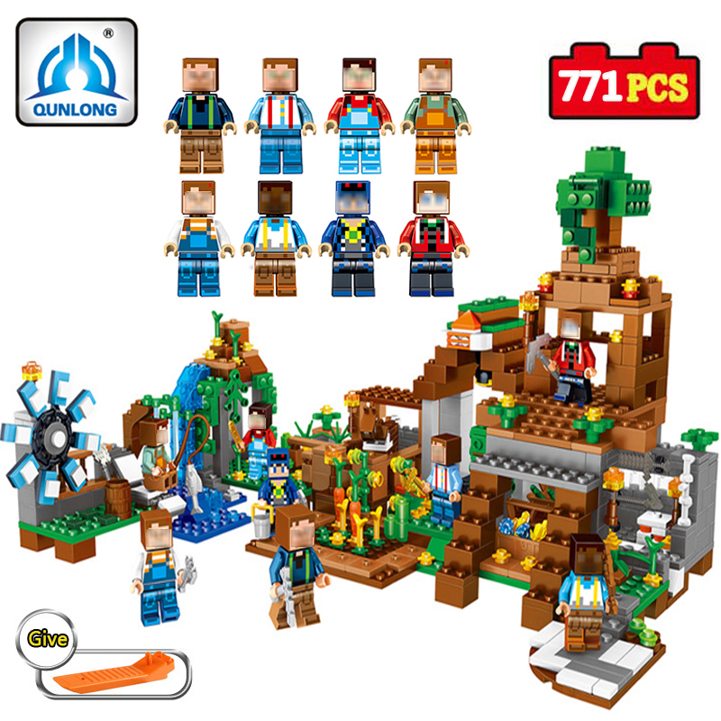 771PCS Minecrafted City Figures Compatible Legos Techinic Building Blocks 8 in 1 DIY Manor Bricks Toys Christmas Gifts For Kids qunlong toys compatible legos minecraft city model building blocks diy my world action figures bricks educational boy girl toy