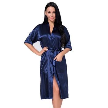 e7104e37e7 Morado Plus tamaño XXXL Sexy mujeres traje de verano Casual pijamas dama  china de seda de rayón de Albornoz pijamas mujer NR030