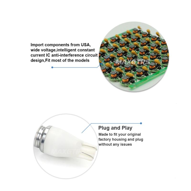 2X T15 912 921 W16W LED 30W Ekstremal Parlaq Cree Çip XBD Ampullər - Avtomobil işıqları - Fotoqrafiya 4