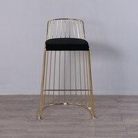 U BEST розовое золото Металл барный стул использоваться для партии и свадьбы, промышленных паб стула, позолота стул гостиницы коммерческая ме