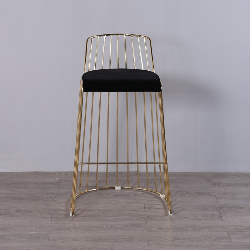 U-BEST Rose Gold Metal Bar Stool Used For Party And Wedding,Industrial Pub Stool, Gold-plating Hotel Chair Commercial Furniture