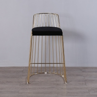 U BEST rose gold metal bar stool used for party and wedding,Industrial pub stool, gold plating hotel chair commercial furniture
