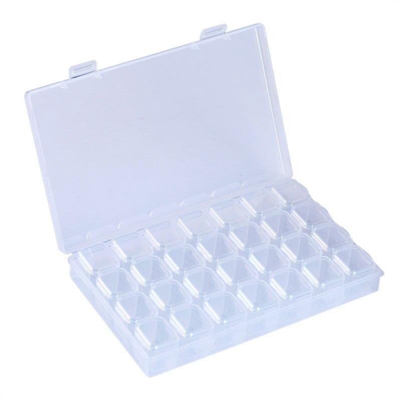 Синева 1 шт. 28 комп Книги по искусству ments пластмасс Дизайн ногтей ювелирных материалов пустой ящик для хранения ногтей DIY Инструменты органи...