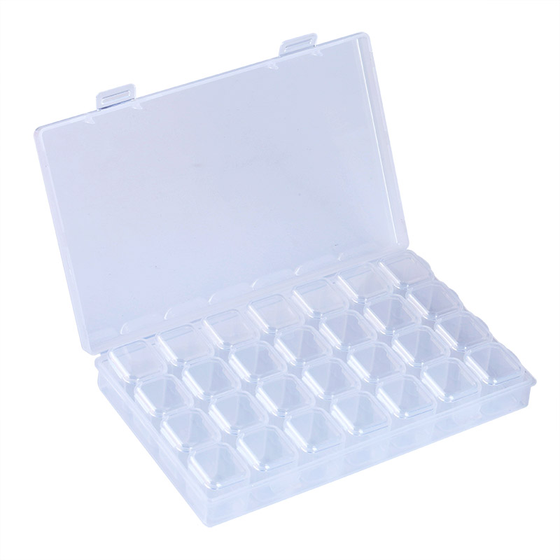 Get This Blueness 1pcs 28 Compartments Plastics Nail Art Jewelry