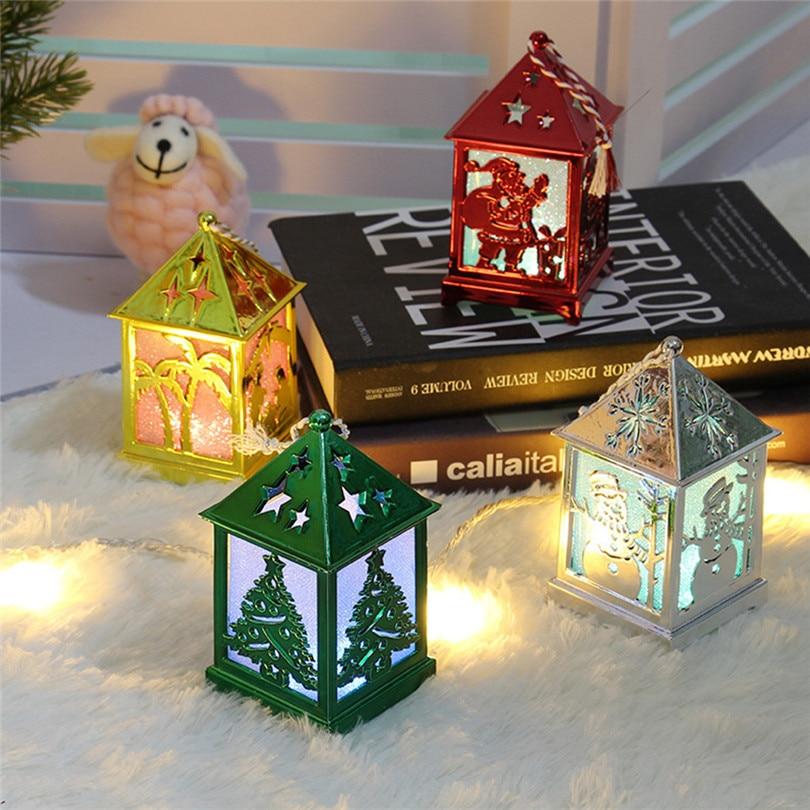 Christmas Decorations For Home LED Light Dolls House Villa Xmas Ornaments Hanging Christmas Tree Hanging Decor Navidad 40DC604