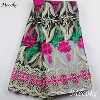 Wathet African Laces Fabrics Embroidered Nigerian Guipure French Lace Fabric High Quality 2017 African French Net