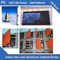 Светодиодная вывеска крытый P5 литья Шкафа 640 мм * 640 мм 128x128dots тонкий 1/8 сканирования видеопрокат светодиодный знак billboard se панель рекламы