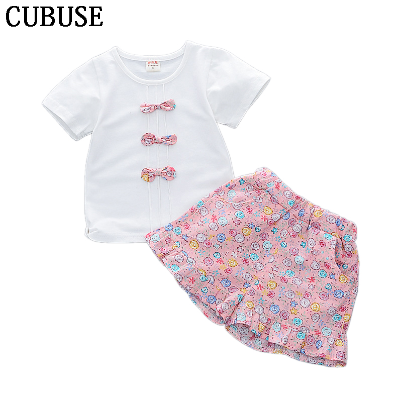 2018 Brand New Casual Newborn Toddler Infant Baby Girl Cotton Clothes Set Tops+ Shorts 2Pcs Outfit Floral Clothes