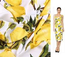 European Style Lemon Satin like Silk Wadding Cotton Fabric felt telas tissu african fabric tissus pour