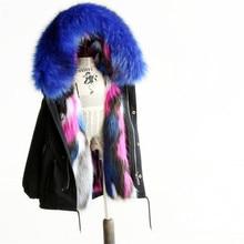 2018 Зимняя детская одежда с искусственным мехом пальто для девочек с капюшоном, куртки для девочек пальто; теплое пальто из искусственного меха Верхняя одежда, парки