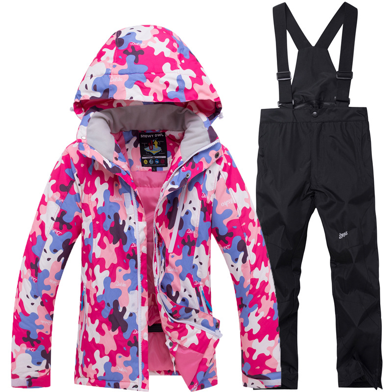 Children New Winter Ski Suit Men Set Windproof Waterproof Warm Skiing Snowboarding Suits Set Male Outdoor Hot Ski Jacket + Pants