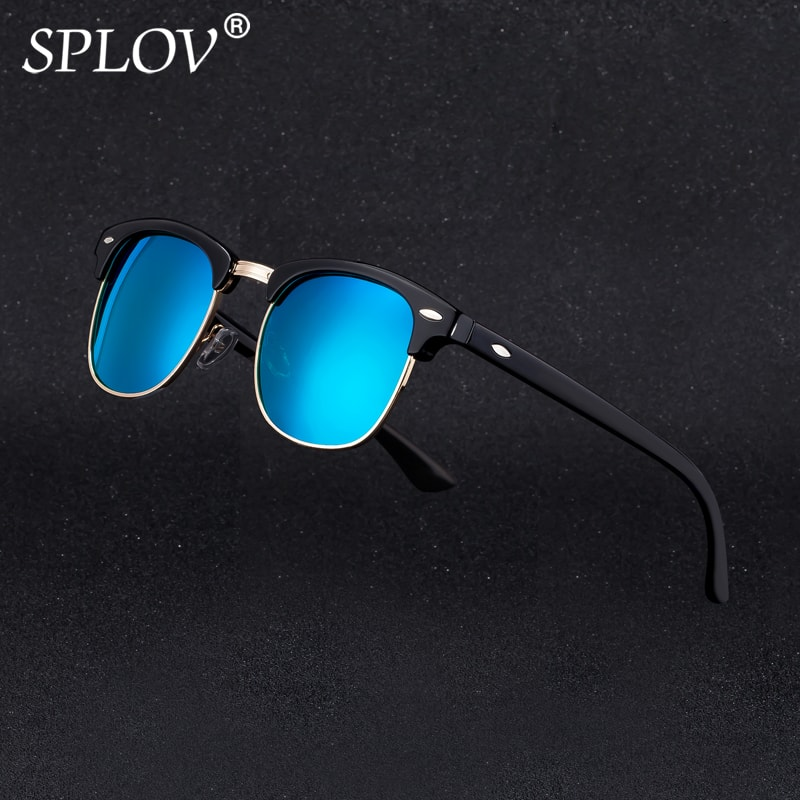 цены Half Metal High Quality Sunglasses Men Women Brand Designer Glasses Mirror Sun Glasses Fashion Gafas Oculos De Sol UV400 Classic