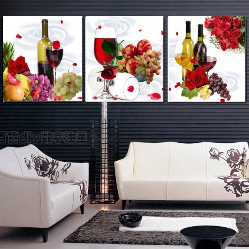 obrázky Klasické obrazy na plátně Hrozny Ovoce a červené víno Láhev Zátiší Olejomalba obrázek v obývacím pokoji bez rámu