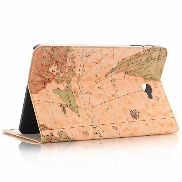 "New Map pattern Case For Samsung Galaxy Tab A 2016 T585 T580/N tablet luxury capa funda For Samsung tab a6 10.1"" cover+pen"