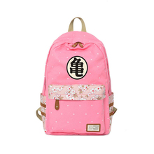 DRAGON BALL Cool personality Backpack Flower wave point Rucksacks Japanese Anime Printed Backpacks Kids High Quality Stylish Bag