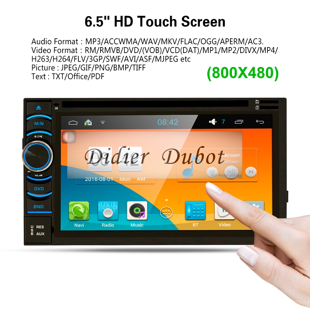 6.5 Inch 1+16G Car Multimedia Audio Video Player For Android 7.1 Bluetooth GPS