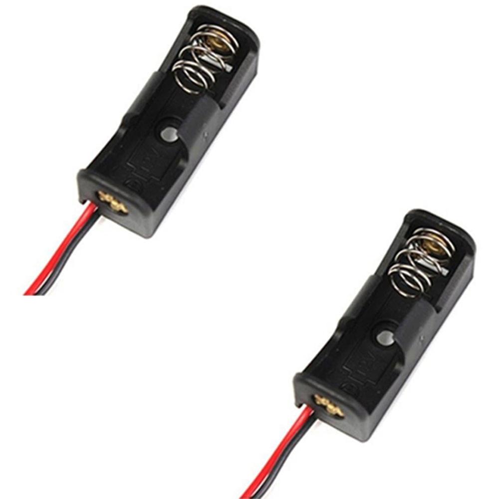 2PCS 23A /A23 Battery 12V Clip Holder Box Case Black Battery Case Box Holder Support de caisse de batterie F.12