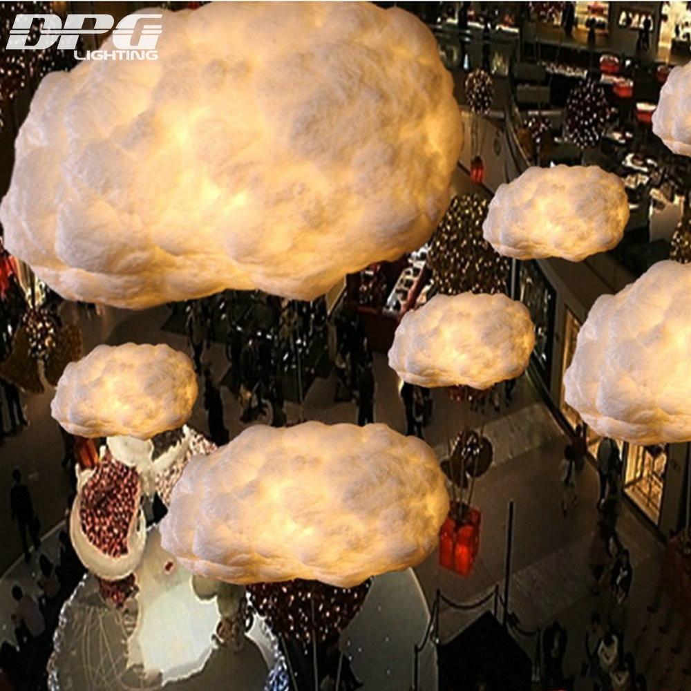 modern led floating white clouds pendant light fixtures cafe bar