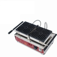 Commercial Electric Belgian Type Rotary Waffle Oven Machine 110/220V Non stick 4pcs Electric Square Waffle Baking Iron Furnace