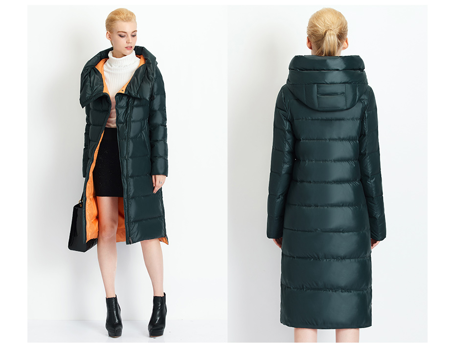 Fashionable Coat Jacket Women's Hooded Warm Parkas Bio Fluff Parka Coat High Quality Female New Winter Collection 30