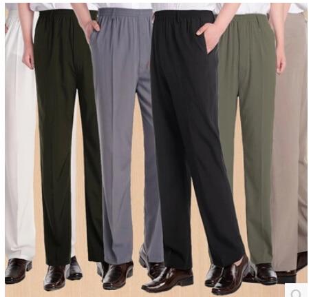 New Arrival Male Quinquagenarian Summer Pants Thin Casual Men Pant