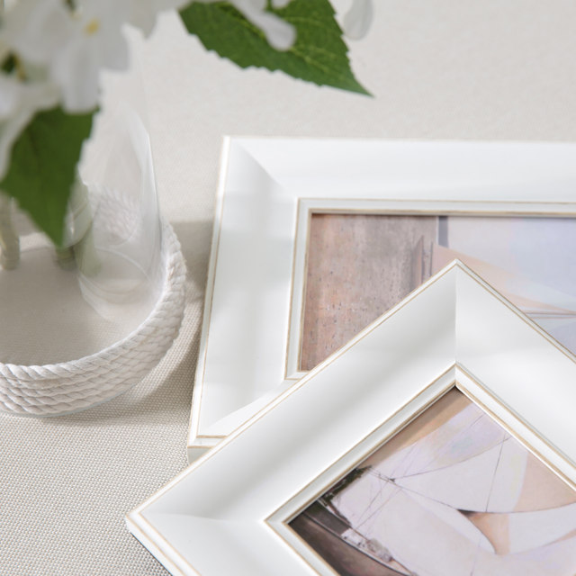 Online Shop White Blue Gold Wedding Photo Framesmini Picture Frames