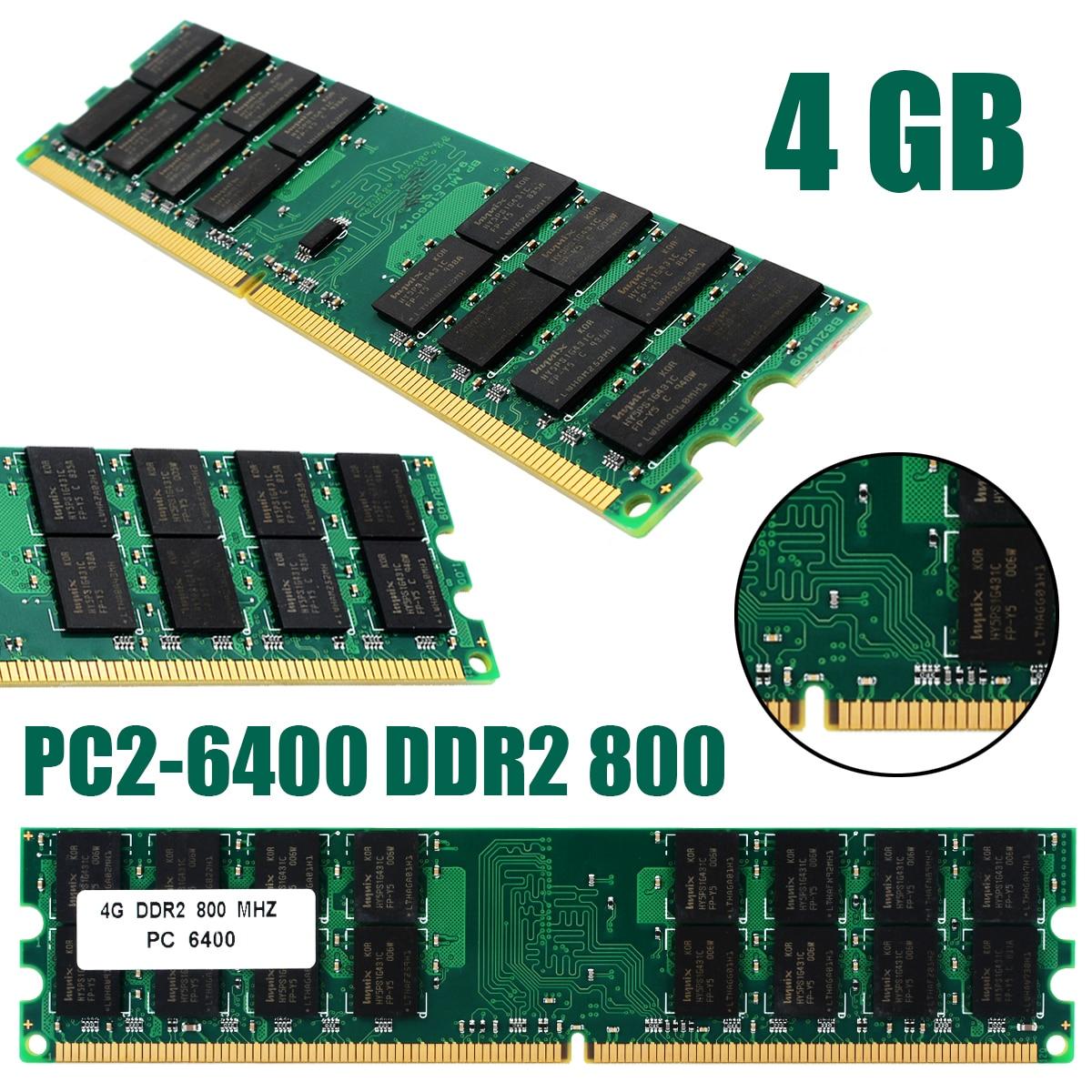 1pc professionnel 4GB PC2-6400 DDR2 800MHZ non-ecc 240Pin mémoire Ram pour les Ram de bureau AMD nouveau