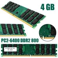 1pc profissional 4 gb PC2 6400 ddr2 800 mhz não ecc 240pin memória ram para amd desktop rams novo|RAM| |  -