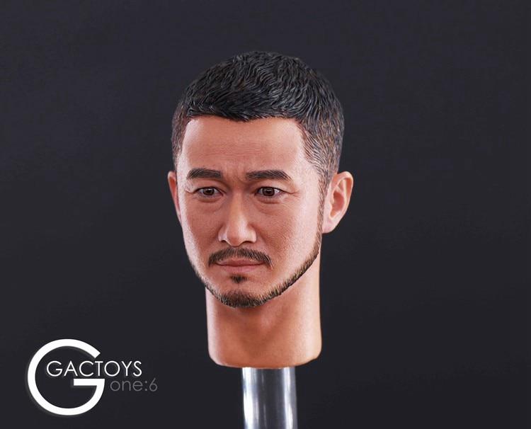1/6 Scale Tough Guy Wu Jing Head sculpt Carving Model Jason Headplay GACTOYS GC026 fit 12 Action Figure Accessory