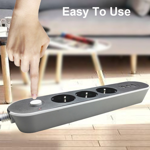 Image 4 - EU Russian USB Power supply Socket 3 Way EU Power Strip Electric Extender Cord Outlet Surger Overload Protector Network filter