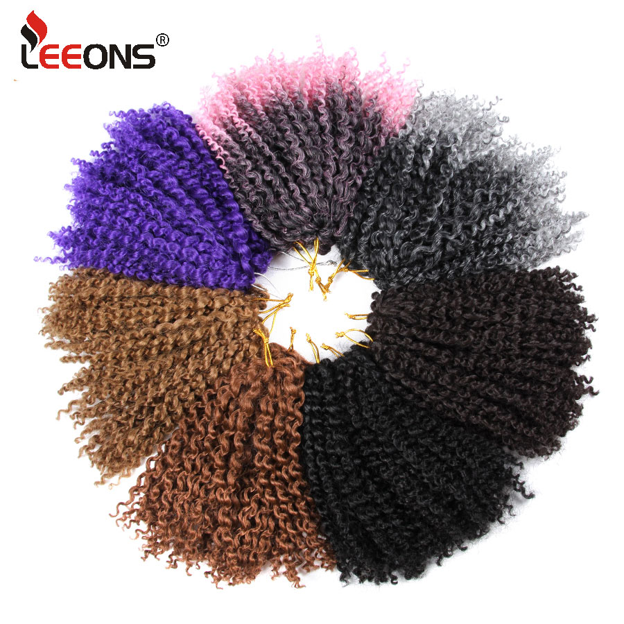 Leeons Marley Bob Braid Hair Kanekalon Synthetic Hair Natural Hair Extensions Short Colo ...