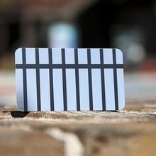 Câmera personalizado de aço inoxidável de qualidade recorte cartão de visita do metal
