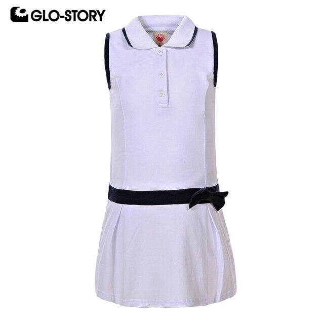 69b52bf67 GLO STORY Little Kids Girls Sleeveless Button Down Knitted Dress ...