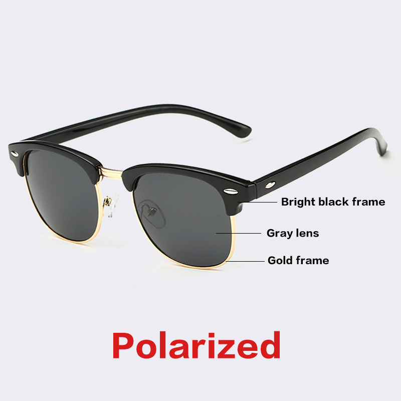 AOFLY CLASSIC Half Metal Sunglasses Men Women Brand Designer Glasses ...