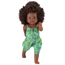 купить YARD African Fashion Black Lady Doll Kid Toy Soft Silicone Reborn Baby Realistic Vinyl Doll 17 inch with Cloths Christmas Gift по цене 1583.29 рублей
