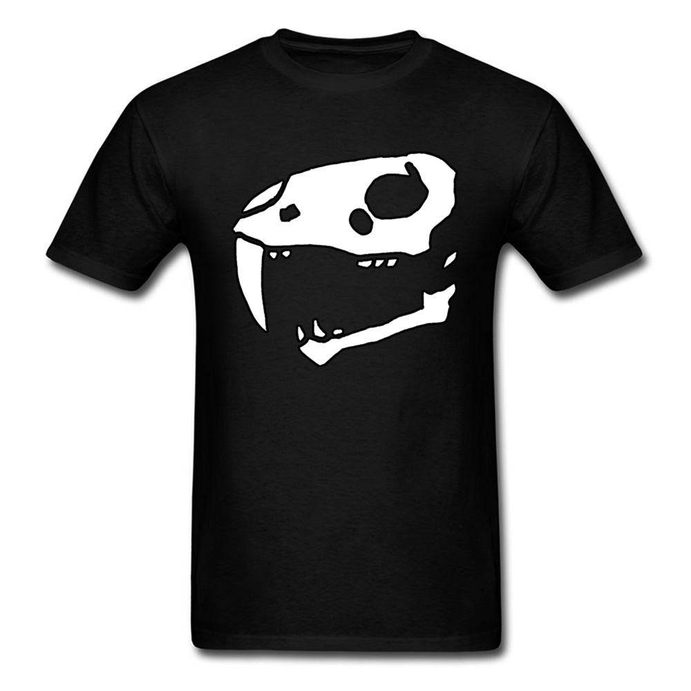 Casual Saber Tooth Geek Short Sleeve Father Day Tops Shirts Brand O-Neck All Cotton Tee Shirts Mens T-shirts Wholesale