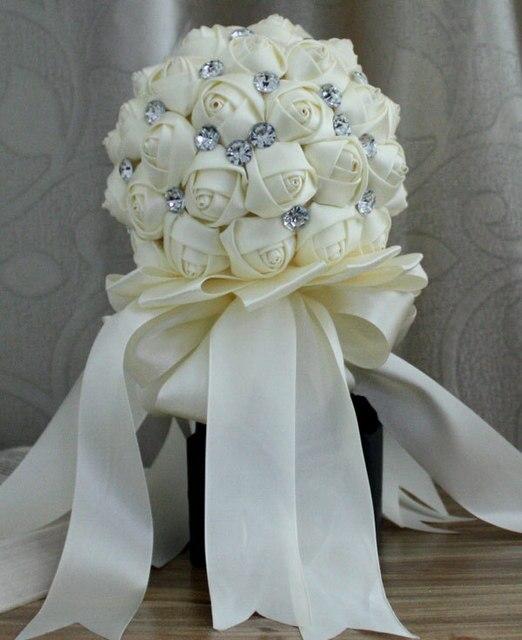 Кот Горный Хрусталь Искусственный Невесты Свадебные Букеты Рамо Novia Свадебные Цветок Accessoires Марьяж