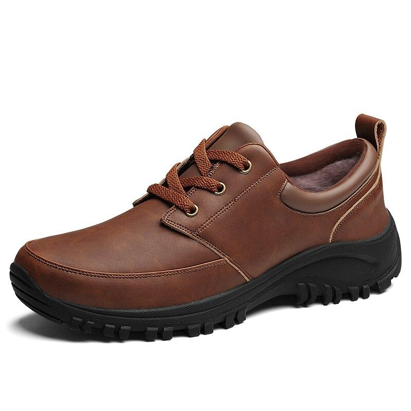 La gray Botte De Cheville L'usure Hiver Taille Les Grande Jusqu'à Chaud Mâles Hommes Chaussures Léger À Pour Bottes Résistant Dentelle Neige Brown Laisumk nOFf6BqwZx