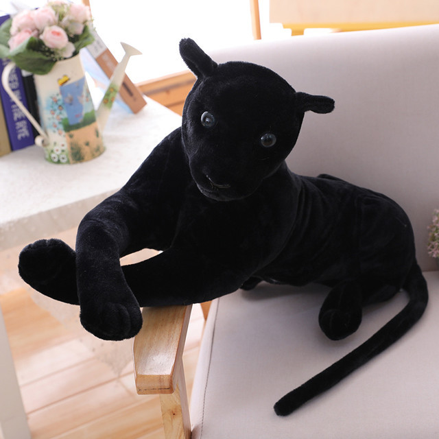 75/30CM high quality Simulation Leopard Panther plush toy simulation stuffed animal classic toys for children gift