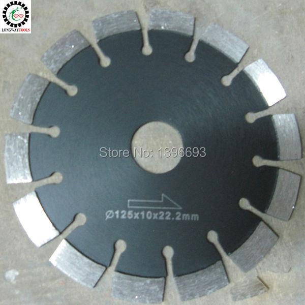Lama per sega circolare laser 125X10X22.23mm diamantata per cemento armato, utensili da taglio per asfalto, mole da taglio per muratura