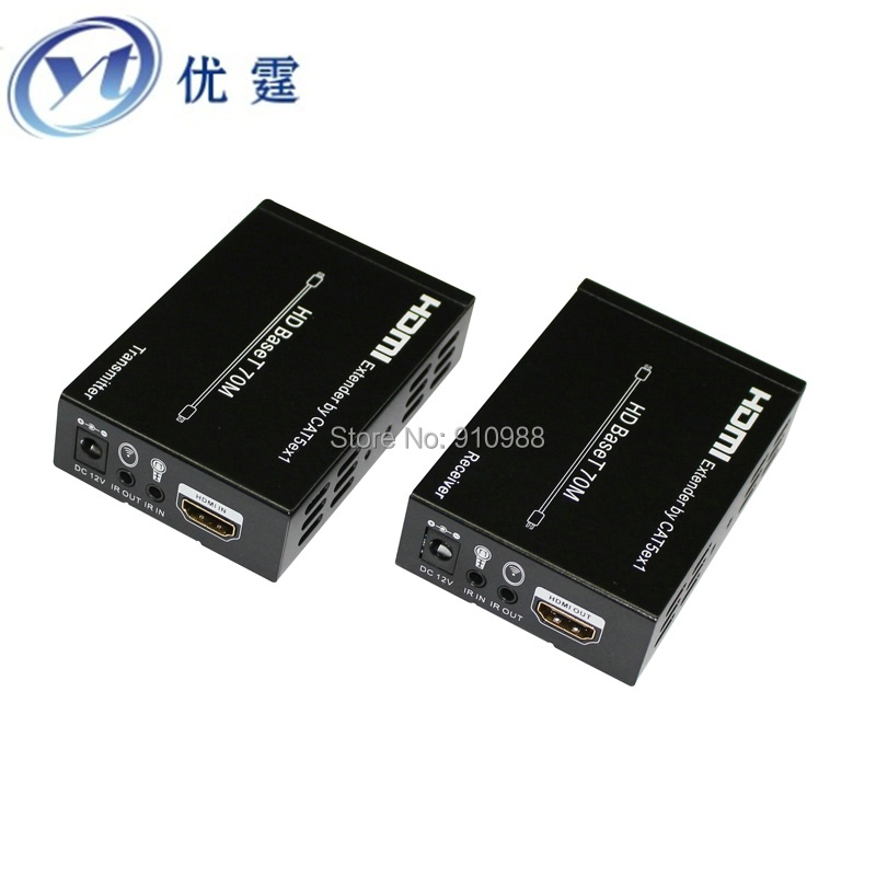 YOUTING HD BaseT HDMI Extender over Cat5e/Cat6 100M v1.4 4kx2k 2160p 1080P 3D IR HDMI TO RJ45 HDMI transceiver is 100 meters