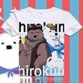 New  Anime Shirokuma Cafe Panda Polar Bear Penguin Pattern T-shirt Cotton T-shirts