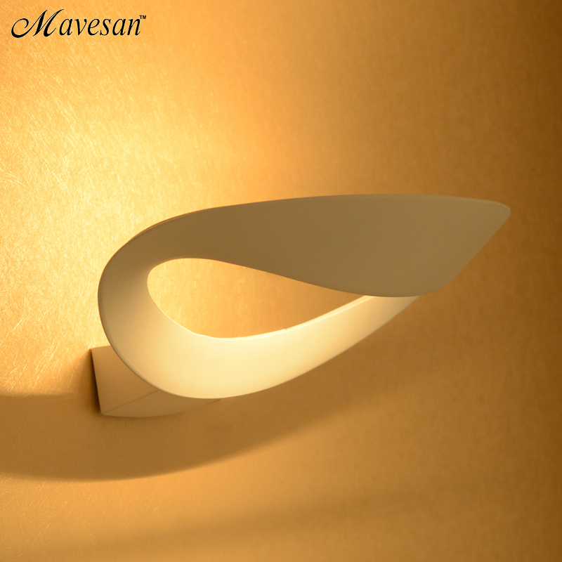 ₩Modern LED Wall Lamp For Bathroom Bedroom 12W Wall Sconce White ...